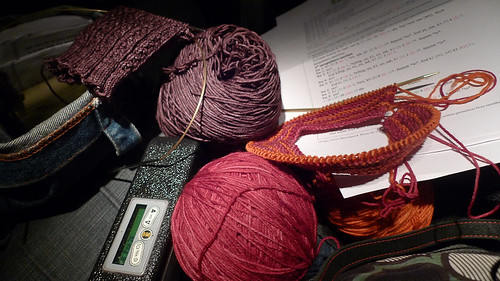 knitting on the plane with springtree road