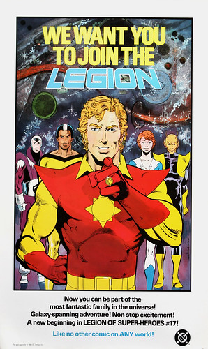 DC Comics promotional poster - Legion - 1985