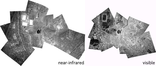 infrared and visible balloon maps from Lima