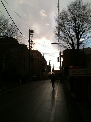 雨と夕日 (2011/1/26)