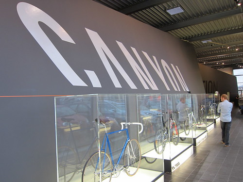 Bike museum inside the Canyon HQ