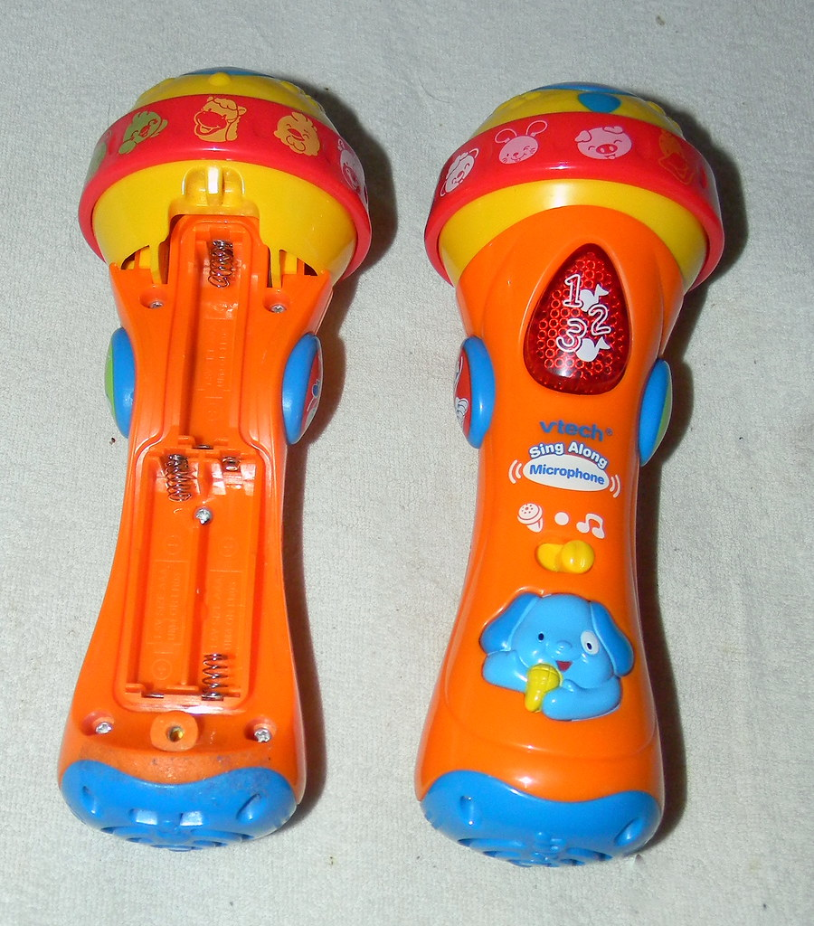 23rd January 2011 two vtech sing Along microphone battery compartment open 23rd January 2011 7:32.03am