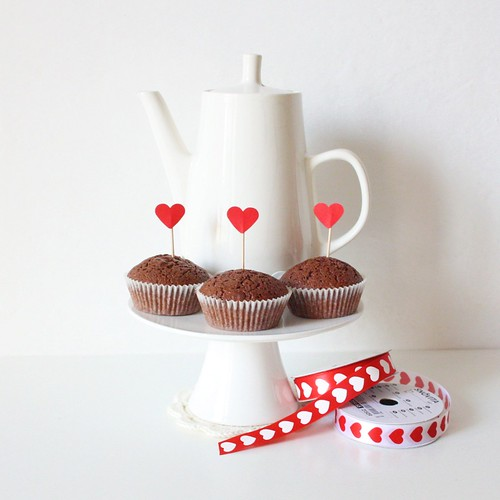 chocolate cupcakes - tea & LOVE!