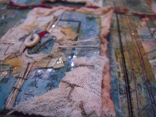 ruth's beautiful resin page art quilt