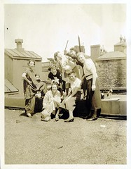 1934 - Party On The Roof - Part 2 (clotho98) Tags: roof ladies girls party blackandwhite bw college boston vintage found toys photo thirties 1930s women wine massachusetts vernacular 1934 ywca