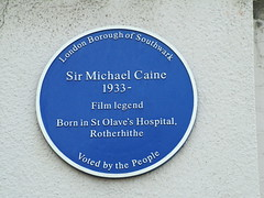 Photo of Michael Caine blue plaque