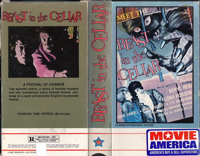 BEAST IN THE CELLAR (VHS Box Art)
