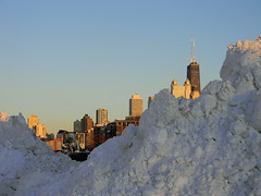 Aftermath (Chicago-Near North skyline) (GXM.) Tags: snow chicago weather highrise division blizzard halsted streetphotos nearnorth chicagoist gxm 2011 chicagostreetphotography snomg snoprah