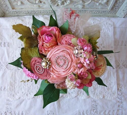 rhinestone wedding bouquet