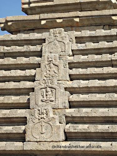 Carvings on tower of hamkuta hill temple
