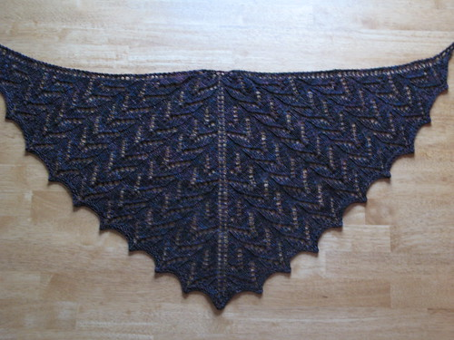 Heaven on Earth shawl
