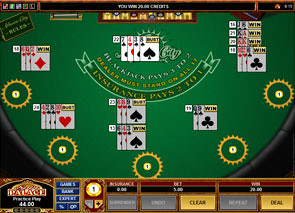 Multi-Hand Atlantic City Blackjack game