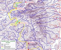 Mapa do Retorno na Travessia Crista - Tartaruga