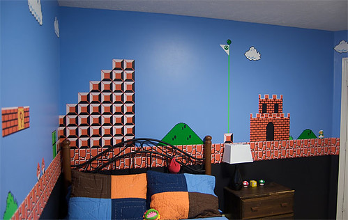 quarto do super mario por Casey Fleser