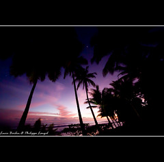 Dusk on the beach - Osa peninsula - Costa Rica (Lucie et Philippe) Tags: voyage trip travel sunset america nationalpark costarica central corcovado coucherdesoleil centrale osapeninsula amérique laleonaecolodge