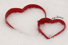You Warm My Heart (Baking is my Zen) Tags: snow valentine flickrfriends valentinesday bemyvalentine youwarmmyheart carmenortiz canonrebelt1i bakingismyzen