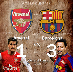 Arsenal vs Barcelona (ZiZLoSs) Tags: barcelona logo vs arsenal league champions 2011 zizloss abdulazizalmanie httpzizlosscom