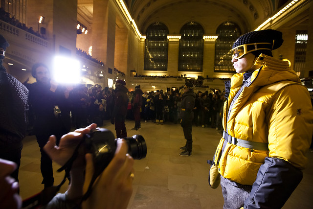 NYFW: Paparazzi at the Moncler Grand Central station show