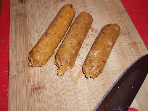 homemade veggie sausage