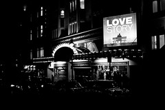 Day 47 Love Story (Peter Simmons) Tags: uk blackandwhite bw london canon bokeh coventgarden cinematic 50mmf14 theatreland 2011 primelens petersimmons 5dmk2