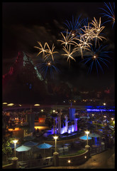 The Portrait View from Innoventions (Gregg L Cooper) Tags: night eos fireworks disneyland disney 7d matterhorn friday tomorrowland hdr caonon