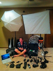 Setup (Iphone shot) (David Parks - davidparksphotography.com) Tags: light david up set umbrella 50mm drive stand mac nikon wizard release 14 sb600 hard battery parks 85mm gear cable pack card ii 600 memory backpack pro setup hd 28 d200 pocket nikkor 18 softbox sb cf vr reflector trigger strobe pw 70200mm vagabond 2470mm tenba macbook d700 80dx