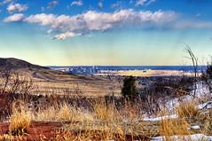 Denver, Colorado (Micha67) Tags: city sky usa snow grass clouds evening michael nikon colorado denver hills micha morrison schaefer d300 redrockpark ptf