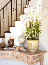 Curved Hall Console Table For Stair Alcove