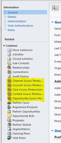 Partner Contact Permisssions