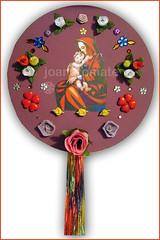 mandala Virgem Maria (joanatomate) Tags: tiara flores santaluzia mandala feltro guadalupe madeira fita gancho trevo sãofrancisco oratório portachave matrisoka sãojudas coraçãotecido