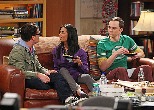 Leonard and Priya; Sheldon doesn't like guests