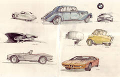 BMW Museum (Flaf) Tags: chris colour water museum pencil munich paul drawing graf gina monaco 328 turbo bmw karl adrian coop bangle florian van claus blau propeller coupe schssel touring bayerische isetta olympiapark albrecht himmelblau 507 schanzer weis 335 goertz luthe motorenwerke vierzylinder bracq afflerbach hoydonk