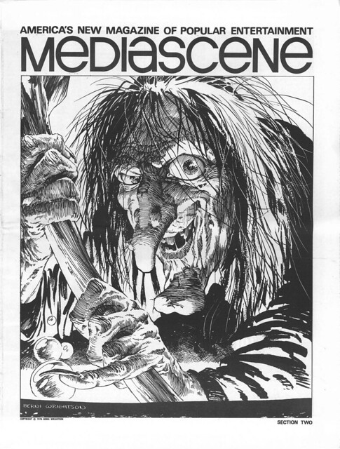 Berni Wrightson Mediascene 16 back cover 1975