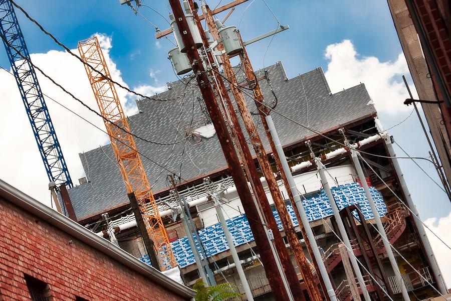 Kauffman Center Construction