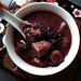 Coconut Black Glutinous Rice Dessert Soup with Taro 椰汁芋頭紫米露