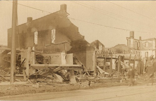 [Fire Ruins] at Third and Broadway, Dayton, OH - 1913 Flood