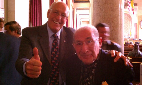 LABikePlan Councilman Bill Rosendahl egged Alex Thompson and befriended Alex Baum after vote to approve LAbikeplan