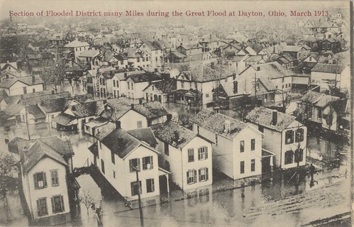Section of Flooded District, Dayton, OH - 1913 Flood