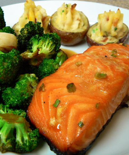 Honey Ginger Grilled Salmon – Crazy Jamie
