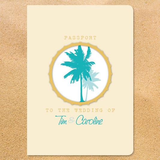 beach party passport cover