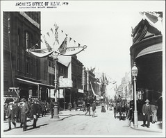A decorated George Street, 1901
