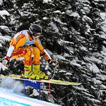Seger Nelson (Big White Racers) in First Place at the 2011 K2 Provincial Super-G in Whistler.  PHOTO CREDIT: Jim Davie