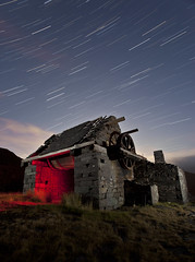 Abandoned Slate Quarry (night photographer) Tags: light abandoned wales night painting photography star long exposure trails disused slate snowdonia quarry dinorwic llanberris