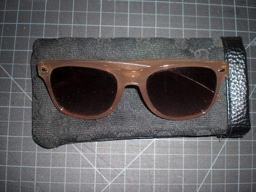 Completed Sunglasses Case Reconstruction