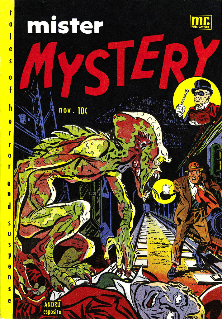 Mister Mystery #2 Ross Andru and Mike Esposito cover art (Aragon Magazines, Inc., 1951)