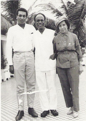 Stokely Carmichael of SNCC, Kwame Nkrumah of the CPP and Shirley Graham DuBois of the CP in Guinea during 1967. Nkrumah was living in Guinea in the aftermath of a CIA-backed military and police coup in Ghana on Feb. 24, 1966. by Pan-African News Wire File Photos