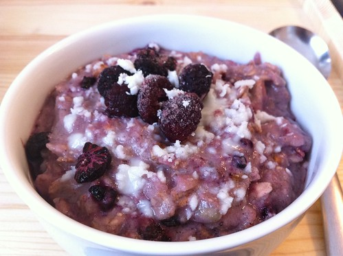 Blackberry Crumble Porridge