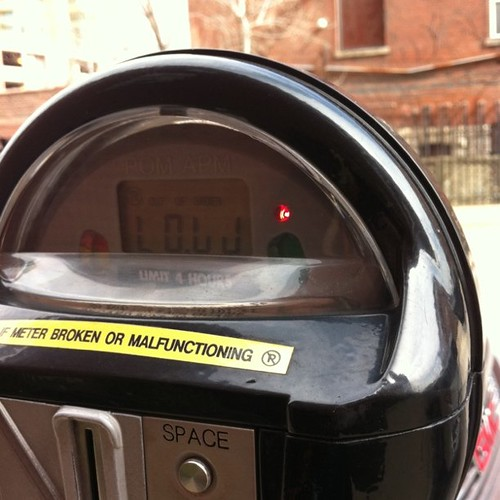 Why did the parking meter have to laugh at me :(