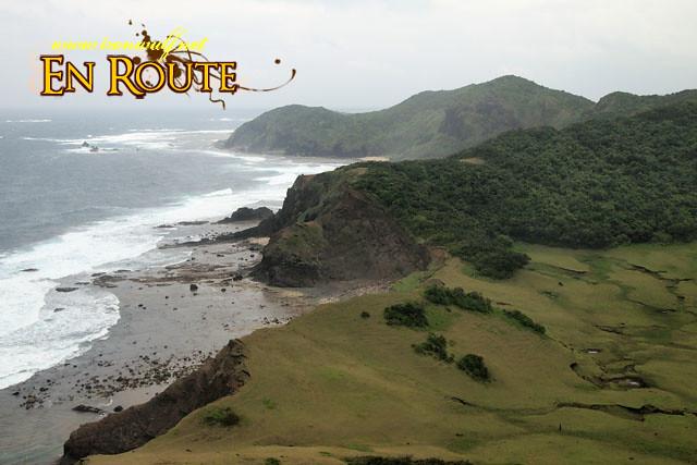 The rugged terrain of Palaui Island