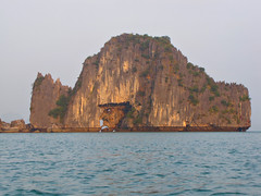 Face Rock-Halong Bay-Vietnam (mikemellinger) Tags: ocean nature water beauty face rock landscape scenery rocks southeastasia unesco vietnam angry limestone mad northern southchinasea halongbay worldheritage karsts